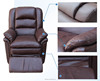 red high quality genuine leather recliner sofa