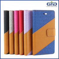 PU Wallet Flip Cover with TPU Inside for iPhone 6G