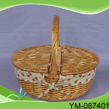 Folding Bamboo Fruit Basket,Small Picnic Baskets
