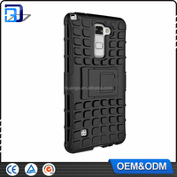 Top selling products TPU+PC 2 in 1 Shockproof Hybrid Kickstand Armor Case For LG Stylus 2 Cellphone Cover Case