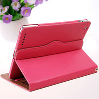 Protective leather flip 360 degree rotating leather case for ipad 2 3 4
