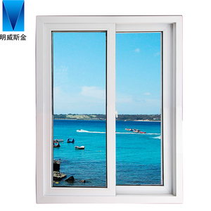Customized cheap double glazed house office sliding glass window for sale