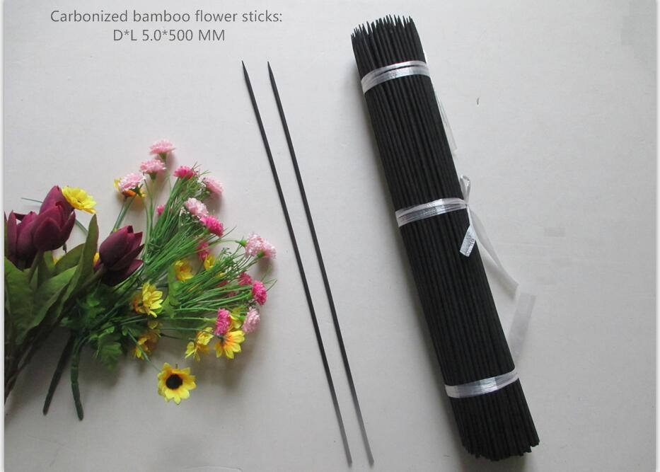Carbonized bamboo flower sitick