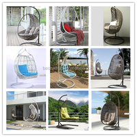Outdoor Rattan Hanging Egg SHAPED Chairs/ Garden Furniture Swing Chairs