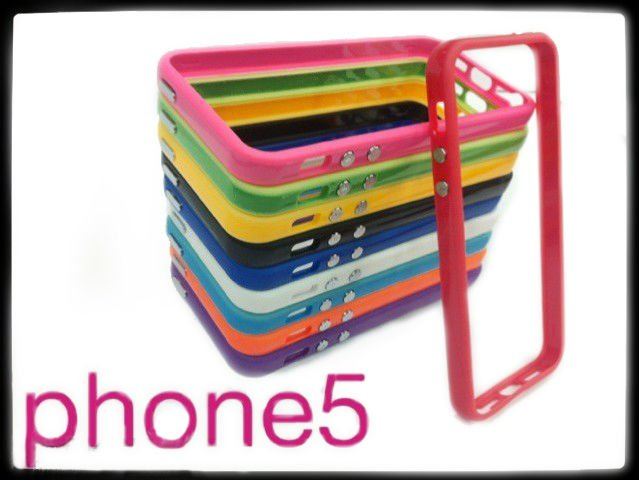 plastic mobile phone cover bumper for iPhone5 each in detail box
