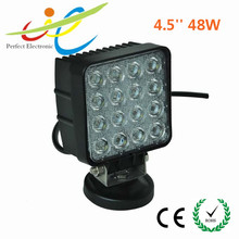 Truck accessories square 48w super bright led working light, epistar 48w led work lamp 24 volt 12V