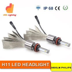 auto parts H1 H3 H7 H11 9005 9006 880 D2S led off road lights led driving light spot offroad truck led fanless philip led kit