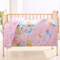 Infant kids quilt for four seasons 100% cotton fabric baby crib bedding set