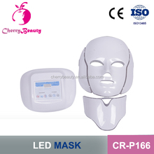 red/blue light treament time controlled skin rejuvenation Rosacea healing led facial mask CR-P166