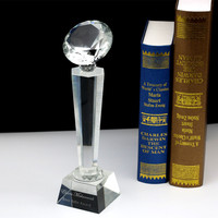 Customized Diamond Shape Crystal Trophy Award for Achievement Recognition Gifts