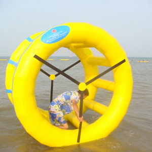Fujian factory professional supply water wheel roller ball inflatable water toy for aqua game
