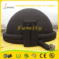 Inflatable air dome projection tent, inflatable air planetarium dome tent for sale