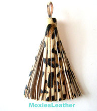 Special Design Leather Tassel Keychain, Leather Tassel Purse Charm, leather tassel for handbag