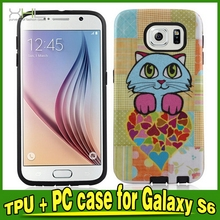 Designer Crazy Selling tpu pc case for samsung for galaxy s6