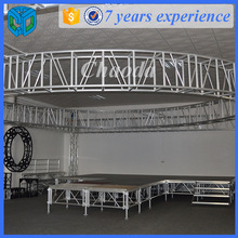 Stable stage aluminum space truss structure