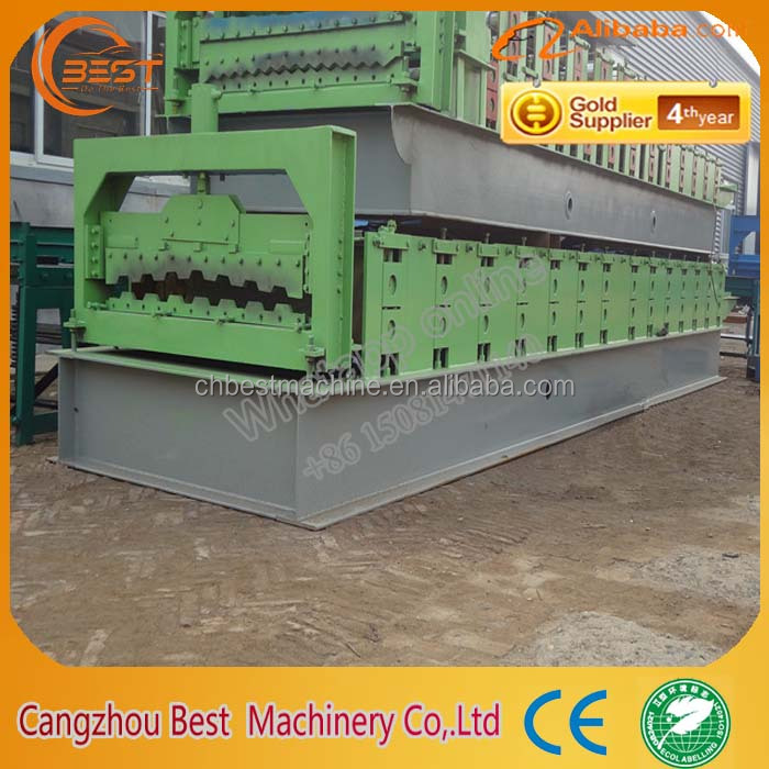 Flooring Tile Production Line Metal Deck Roll Forming Machine