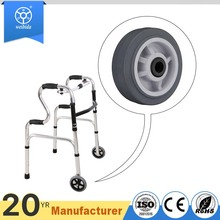 Customized size 4 - 8 inch durable hospital wheelchairs wheels