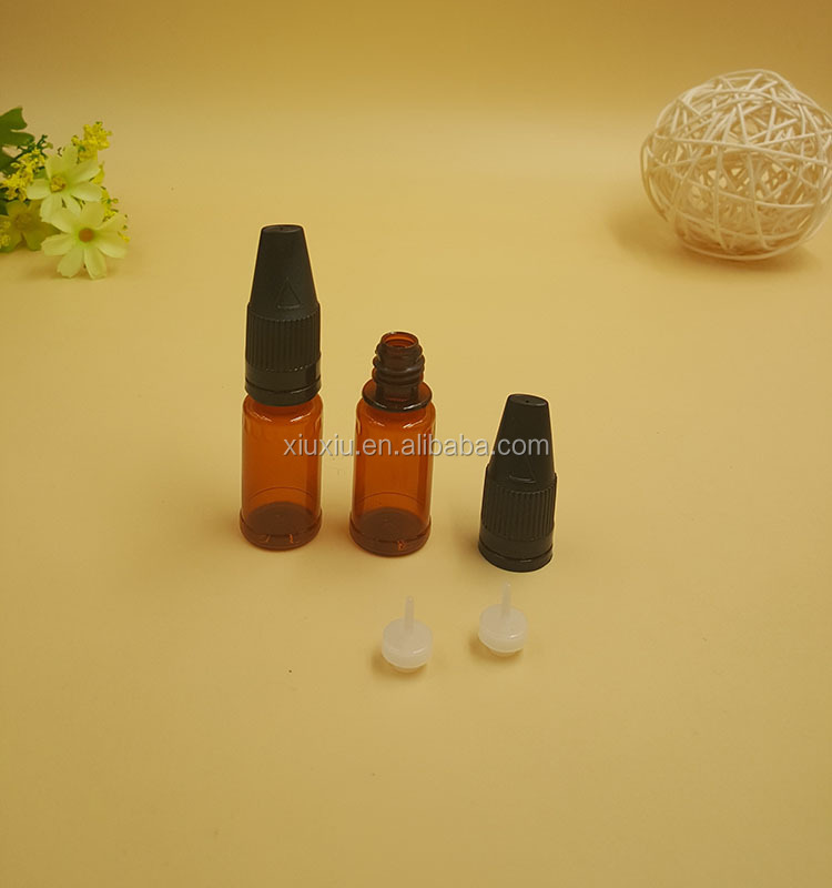 10ml 30ml amber Dekang e liquid pet bottle child tamper proof cap