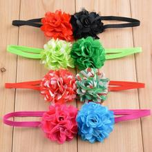 "New 2"" mini chiffon Flower Girls lace Headband Hairband new Hair Accessories Elastic slender rubber band"