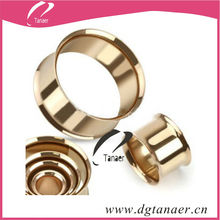 china jewelry stainless steel IP gold ear plug