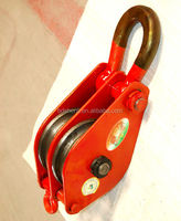 DOUBLE WHEEL SNATCH BLOCK WITH SHACKLE , WIRE ROPE PULLEY