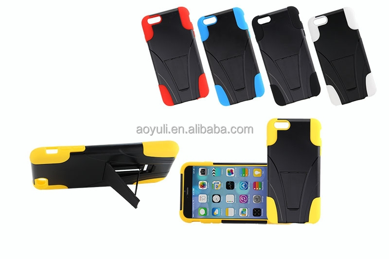 China produts phone case for iphone 6, T-stander mobile phone case