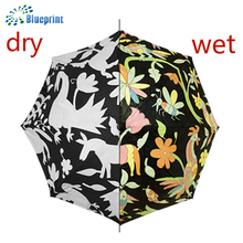 new design customized 23 inches windproof magic water color change umbrella
