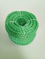 new material pp splitfilm rope twisted 3 strands green color