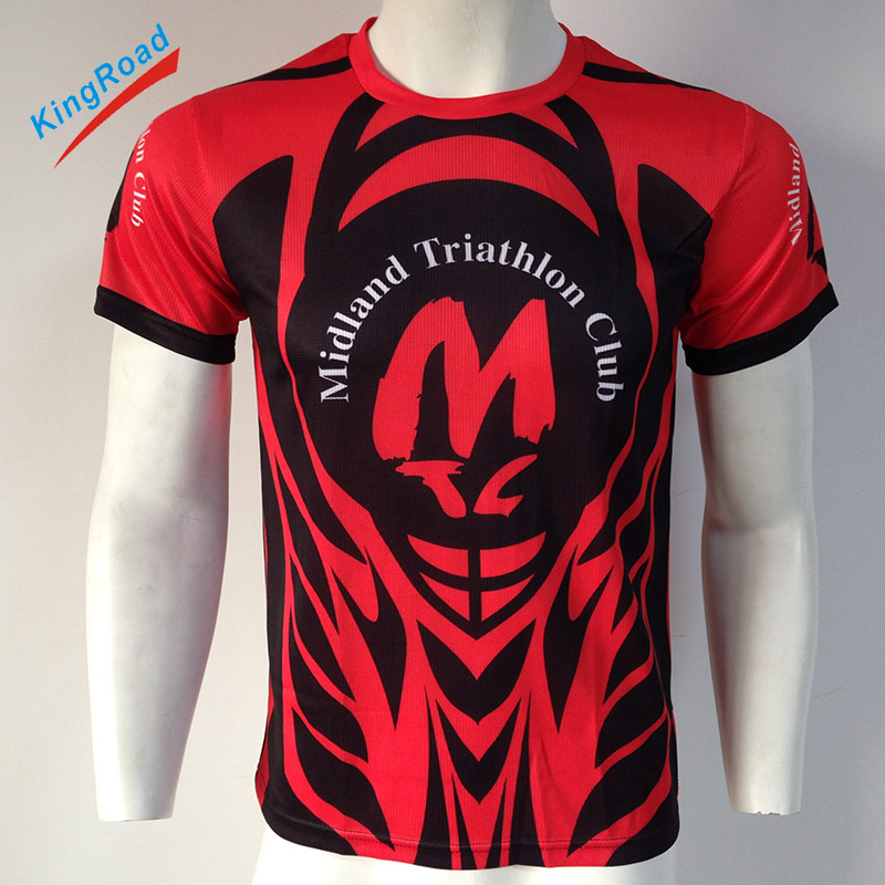 Men's wholesale comfortable tshirts colorful dry fit custom shirts running clothes