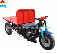 New green environmental flatbed tricycle with three wheels for goods