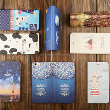 Color Printing PU Leather Case for iPhone 6 Plus 6S Plus 7Plus, Smart Cover for iPhone Plus Case