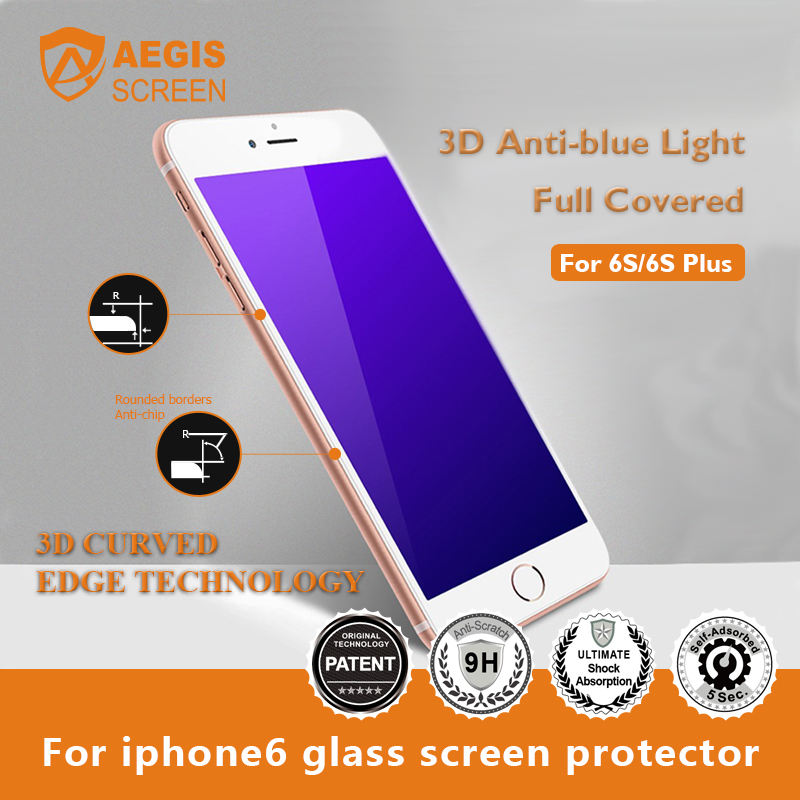 3D Anti-blue light Full Covered Tempered Glass anti blue light screen protector