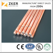 Hot sell UL Certificated Listed Copper Clad Steel Ground Rod Earth rod