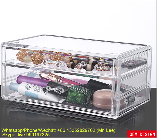 Clear Jewelry Storage Plastic Boxes With Drawers