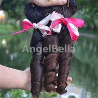 Angelbella Spring Curl Hair New Fashion Hot Beauty Peruvian Spring Curl Human Hair Curly Weave