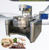 Commercial stainless steel agitator kettle/sugar cooker kettle/jam cooking kettle with mixer