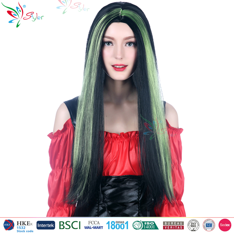 Styler Brand wholesale 32 inch synthetic wig from china cheap wig synthetic for halloween party