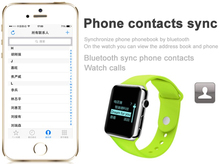 Hot sale new design free mobile phone new bluetooth sync smart watch
