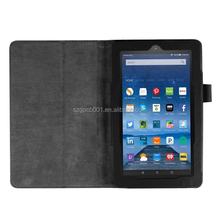 Quality Lychee Texure PU Leather Case cover with flip Stand For KINDOW FIRE HD 7 2015 BUSINESS PROTECTIVE CASE