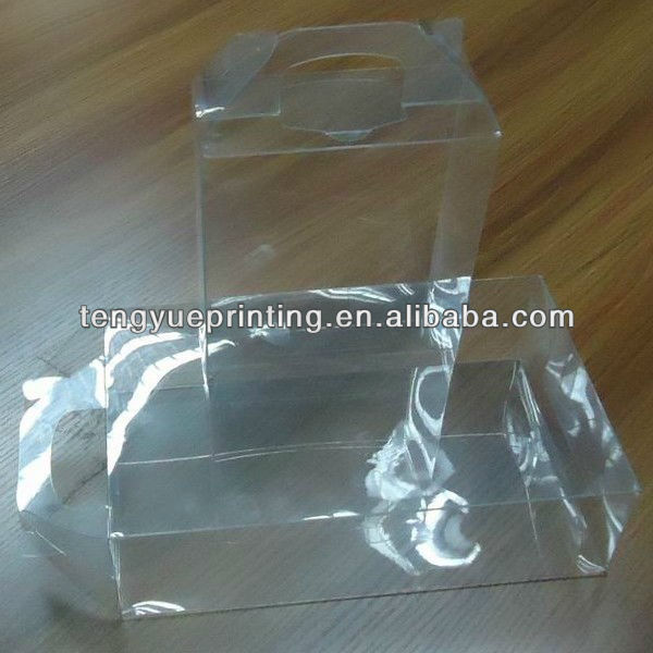 Custom clear disposable plastic packaging with hanger for take away box
