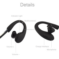 high class earhook mobile phone earphone wireless bluetooth headphones for laptop charming mp3 earplug