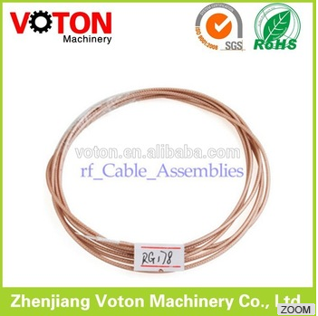 high quality MIL-C-17 RG178 PTFE Silver plated copper Coaxial Cable