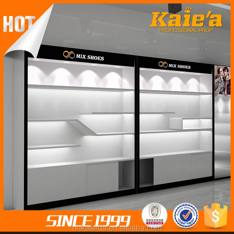 Retail shop shoes showroom display cabinert,shoes showroom cabinet design