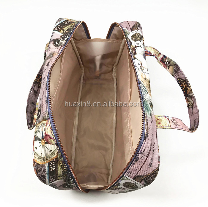 Hot sale big capacity pvc lady tote bag