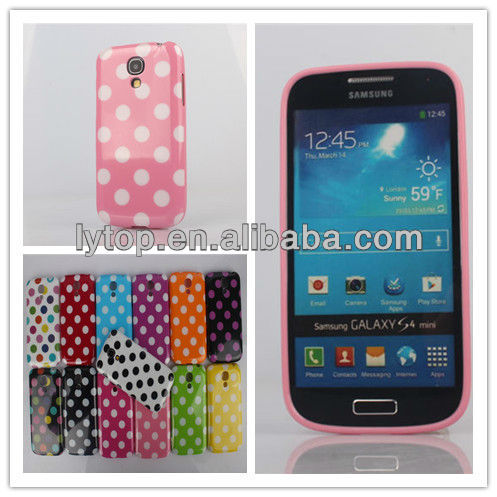 TPU Multicolor Polka Dot Style Back Case For Samsung Galaxy S4 mini 9190