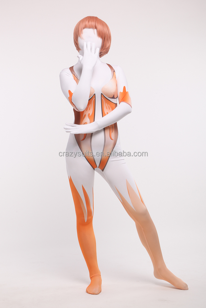 Sexy Femmes Full Body Spandex Lycra Zentai Peau Costumes Cosplay Parti Robe