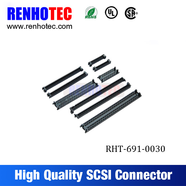 MDR cable connector CN type male 100 pin scsi connector