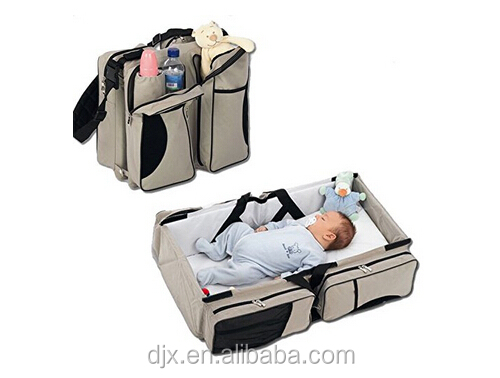 Diaper Bag / Travel Bassinet for baby / Multi-purpose Baby Diaper Tote Bag Bed