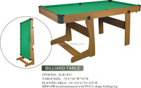 high quality 6ft MDF cheap small folding pool table for sale
