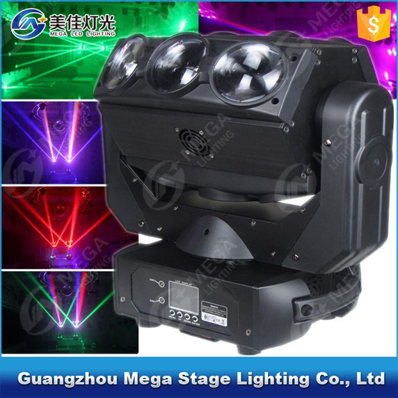 9x12w 4in1 led <strong>beam</strong> 3 rolling light bars disco spider moving head